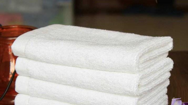 Как сделать полотенца белыми