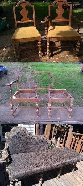 Что можно сделать из старых стульев