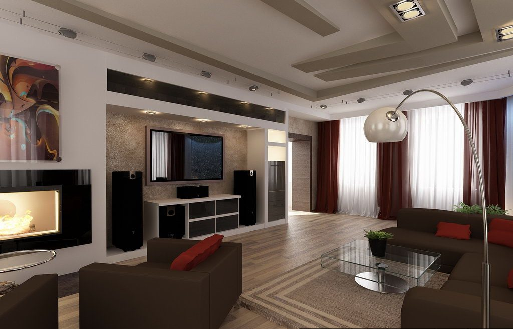 Современный стиль гостиной