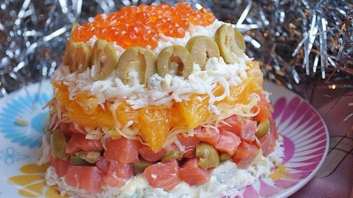 Удачные и вкусные салаты на Новый год