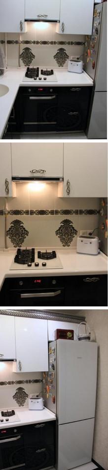 Красивая кухня всего на 6 квадратах