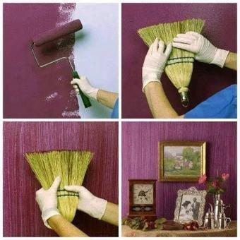 Необычные способы покраски стен