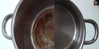 Чистка сковороды и кастрюль до блеска
