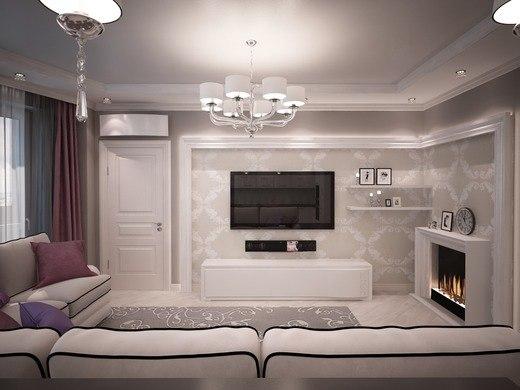 Арт-деко для дизайна гостиной-кухни