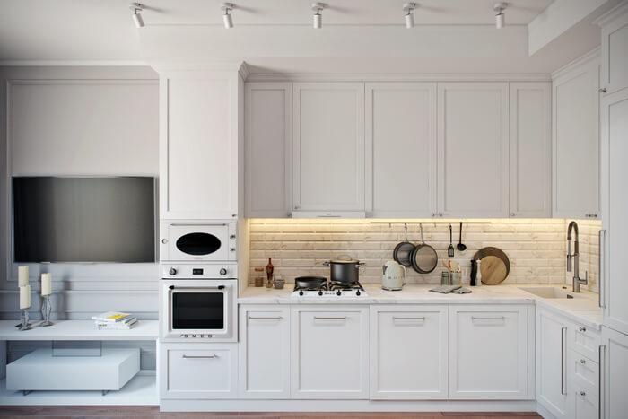 Неоклассический стиль в интерьере квартиры 45 м2