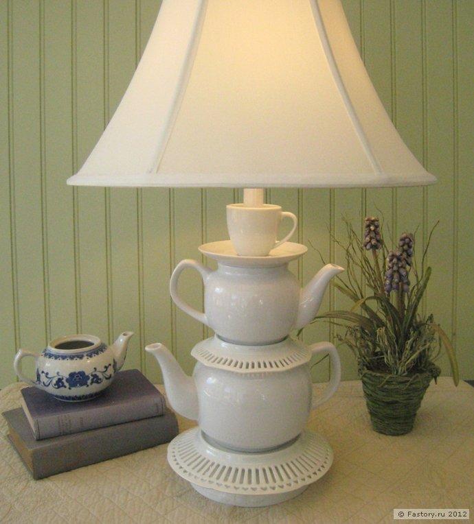 Декор из простых старых чашек