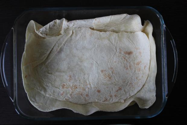 Мясной пирог с лавашем