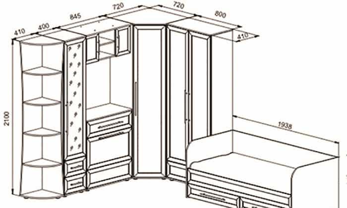 Хорошие идеи чертежа для шкафа мечты