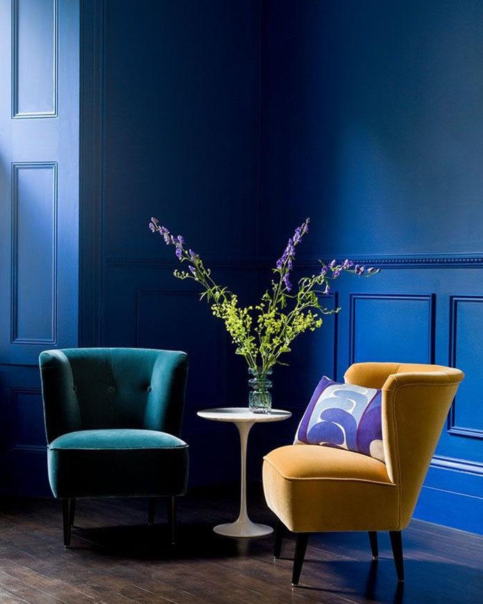 каштан картинки на стену для интерьера в синем этого она