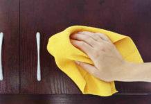Способы очищения кухонных шкафчиков от жирных пятен