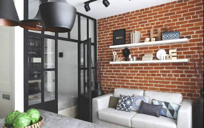 Проект маленькой двухкомнатной квартиры в 33кв м.