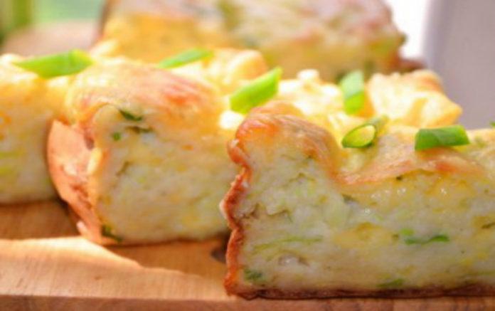Нежная кабачковая запеканка с плавленным сыром