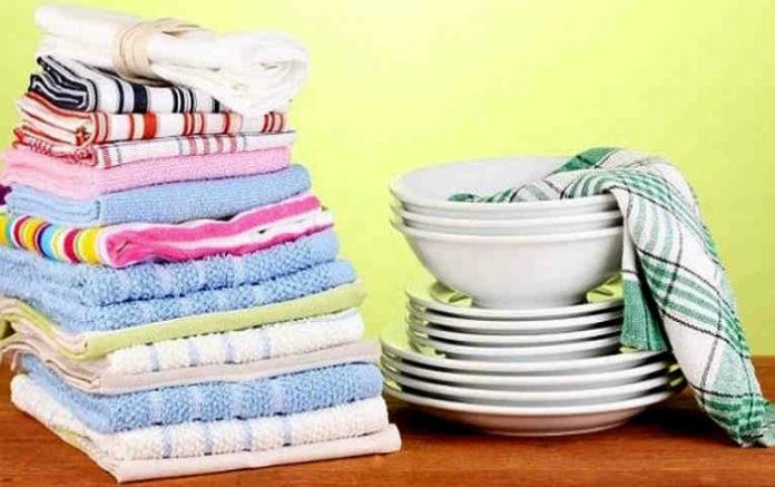 Отбеливаем кухонные полотенца (видео)