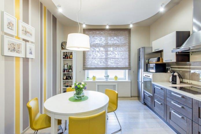 штора на кухне