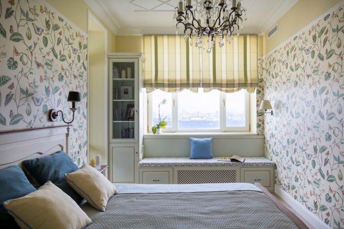 штора в спальне