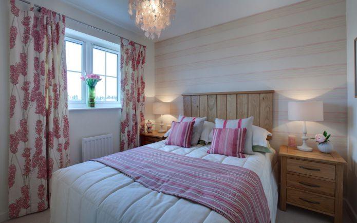 шторы на петлях в спальне