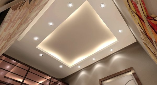 Комбинированный потолок.