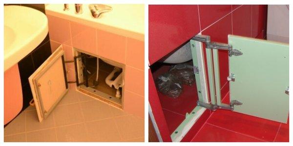 Можно использовать плитку, а доступ сделать через скрытый люк. Главное, чтобы люк был действительно скрытым