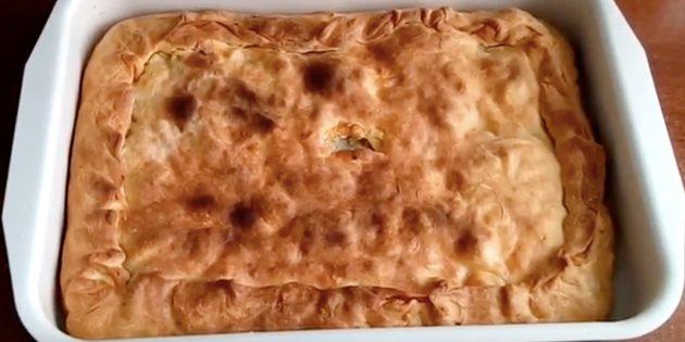 Рецепт: Курник из песочного теста без блинов, но с картошкой