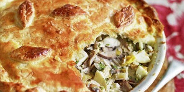 Рецепт курника: Простой курник без блинов от Джейми Оливера