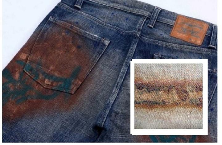 Чем оттереть пятно от майонеза с джинсов фото