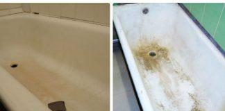Убираем ржавчину и налет с эмалированной ванны