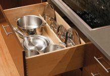 Где удобно хранить крышки от посуды на кухне