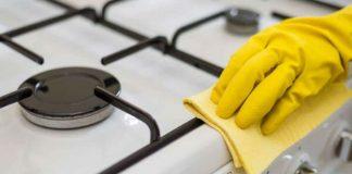 метод очистки газовой плиты от жира