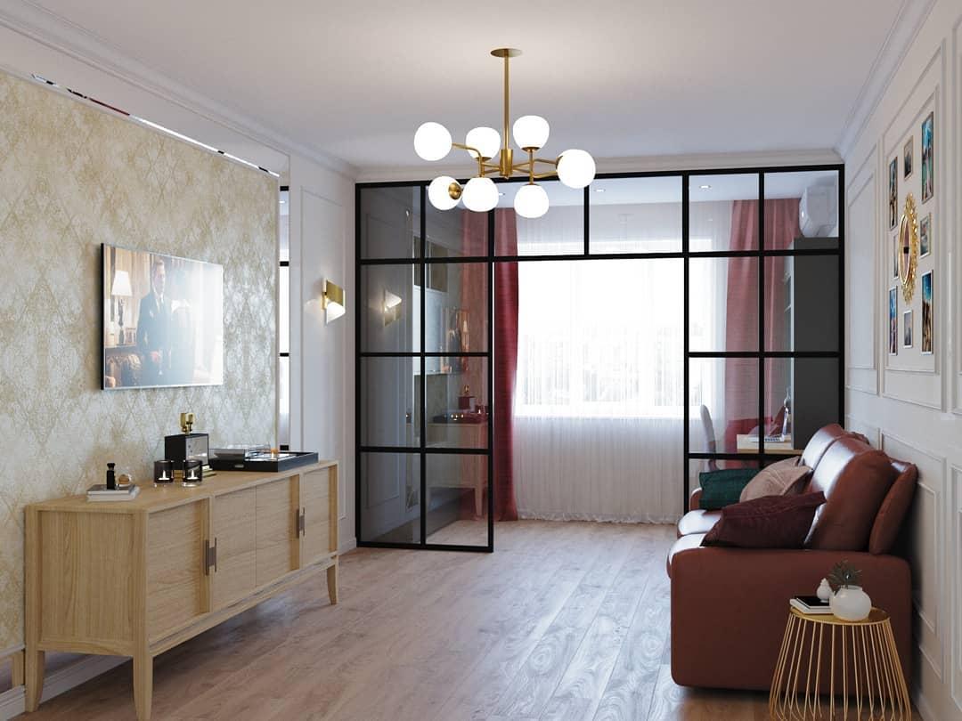 Пустота по центру гостиной: фото