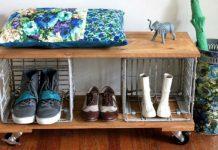 Обувница из подручных материалов своими руками