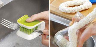 6 интересных изобретений для уборки и мытья посуды