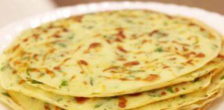 Рецепт тонких лепешек с сыром и зеленью