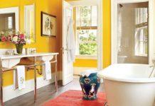 3 жизнерадостных цвета для ванной комнаты