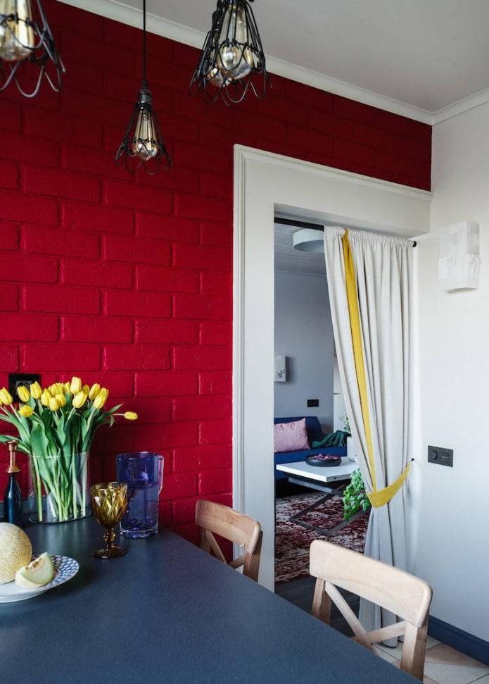 шторы на двери в интерьере кухни
