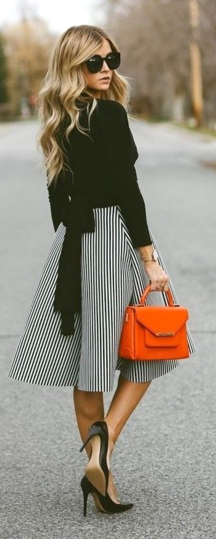 полосатая юбка