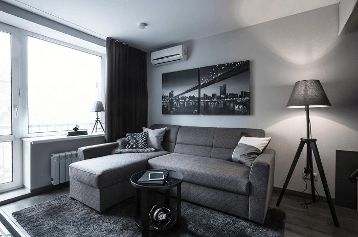 Ахроматические интерьеры слишком строгие. / Фото: design-homes.ru