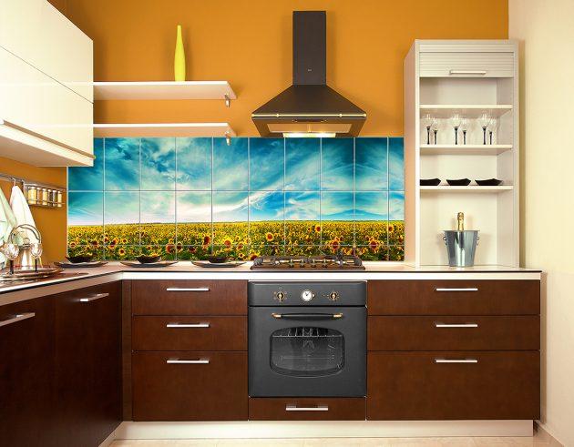 Как выбрать кухню: кухонный фартук