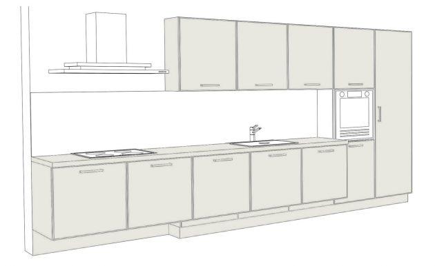 Как выбрать кухню: линейная кухня