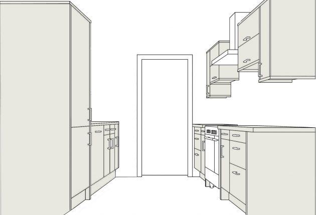Какую кухню выбрать: двухрядная кухня