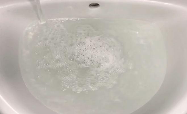 Вода теперь стекает быстро