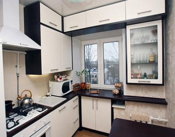 Дизайн кухни-студии в хрущёвке