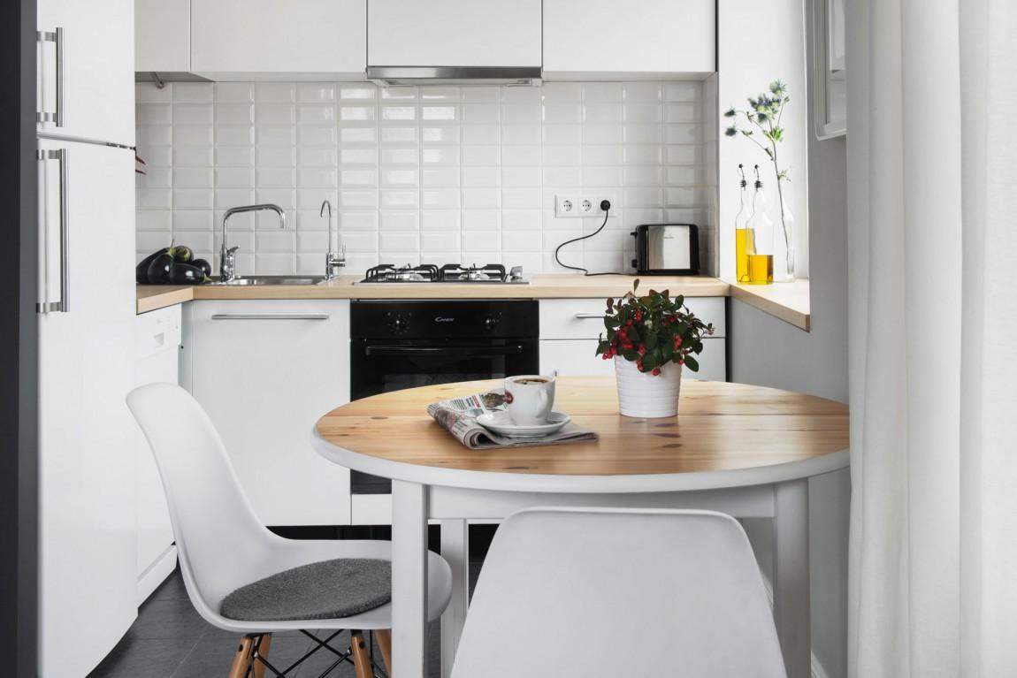 Дизайнерский ремонт маленькой кухни