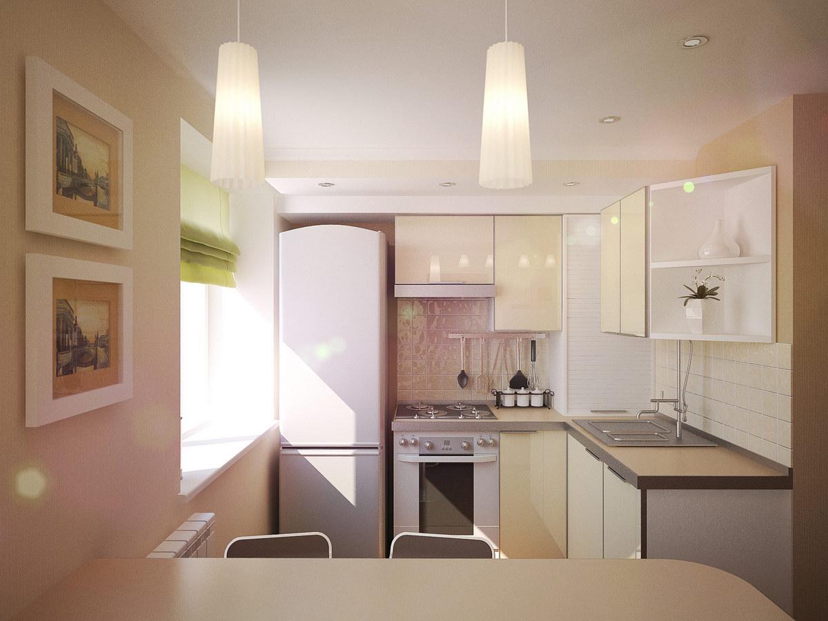 Светлые тона в оформлении кухни