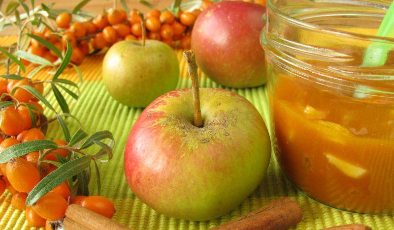 Варенье из яблок и облепихи