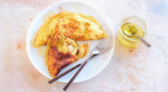 Яблочный омлет. \ Фото: google.com.ua.