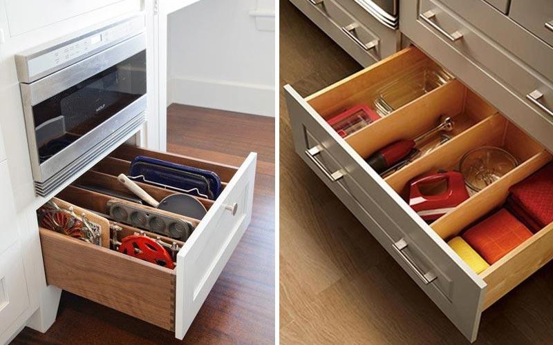 Большие ящики в напольных шкафах - 1