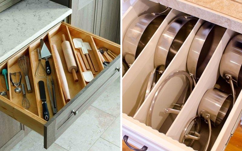 Большие ящики в напольных шкафах - 2