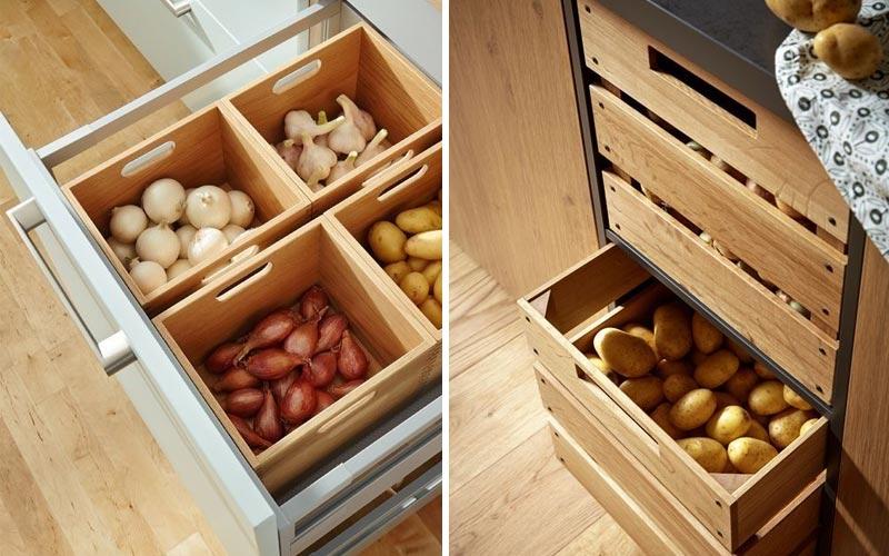 Хранение овощей на кухне - 1