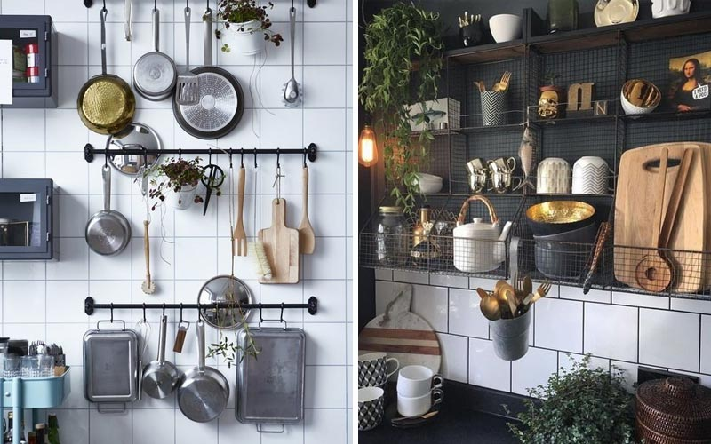 Места хранения на маленькой кухне: лайфхаки