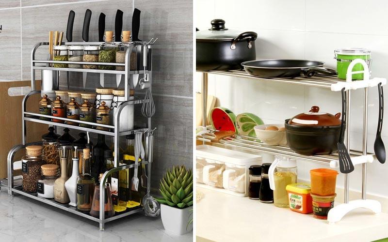 Организация хранения на кухне с фото - многоярусное